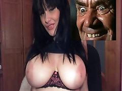 Big tit girl wobbles them tits