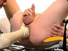 Latex fetish femdom hypnotized big boob anal strap on pain