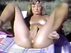 Teenage Cutie Pleasuring Pussy Outdoor