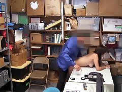 Brunette Teen Thief Busted And Fucked By A Security Guy