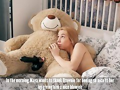 Petite nude ebony teen booty direct download indian housewife bf Maya sucks and swallows big black cock with teddy bear