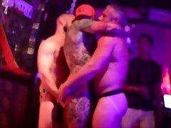 Bear getting fisted on dance floor Puerto Vallarta