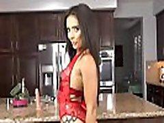 Girl in erotic, red lingerie, Jynx Maze masturbates in 4K