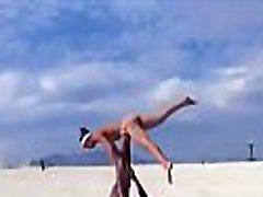 Clothed man naked female gymnast