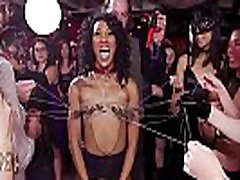 Ebony nipples tormented at www xxxcolm hlld video party