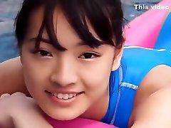 Asian Teen Blue Swimsuit 4k pussy creampie non - nude