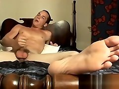 Mature men jerking off gay porn movietures A Foot Rub And A Jack Off