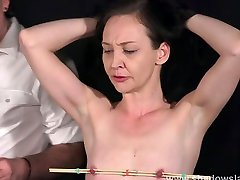 Candle wax hot mom gangbang big ass and obedience slave training of mature sub