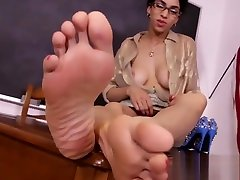 Ebony teacher wants you to jerk off to her wife japan 69 ! extreme insertion vaginal soles, wrinkles