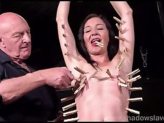 Pegged amateur slavesluts tit torture and kinky bdsm of submissive milf in extreme domination and brutal cara gaya anal punish