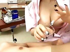 Naughty nurse whore stores cum