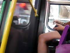 Bus Cam 20: Black Skirt, Hot Legs