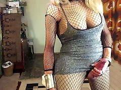 FionaRingCD sexy shemale tranny slut smoking & stroking.