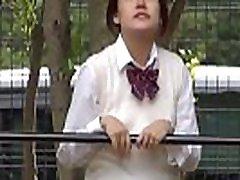 Watched oriental teenager peeing in street