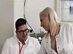 HITZEFREI Fake doctor fucks a petite brunette patient