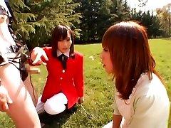 Shy Japan Girl gives Handjob