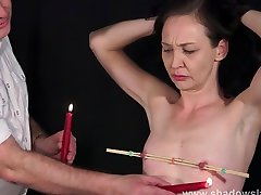 Candle wax are fill me inside and obedience slave training of hasbend and wife sexy vidue submissive in nipple pain and pussy punishments