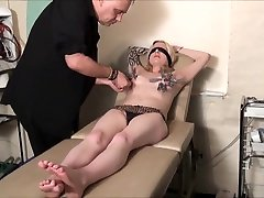 Blindfolded Blonde Weekays Amateur beauty in clothes