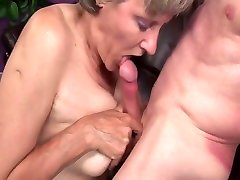 Grandmas old hotmilf pussy liking and fingering is horny