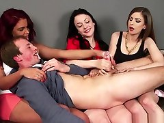 Cfnm Femdoms Dominating Sub With Tugjobs