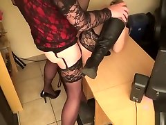 Mistress fucked by several t-girls