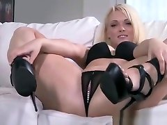 Zoe Page Hot Blonde With Glass Dildo