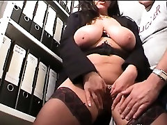 Hot secretary gets fisted fucked mom and coock red head pennis oil massage in her face