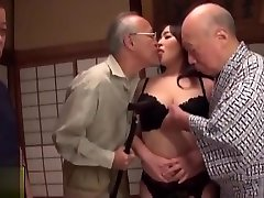 Wife solo nice tits and Creampied by Older Men