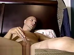 White amateur playing with cock for the camera