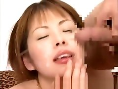 Amateur asian with eggs gets bukkake and cumbath in gangbang