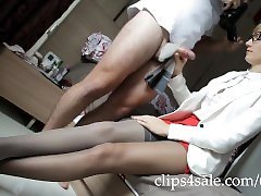 371 Cock Teasing Blowjob with nylons