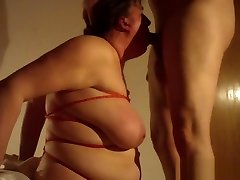 Mature BBW fucked doggystyle and gets deep throat
