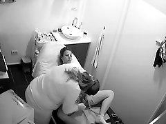 Hidden Spy Cam - italian wife maske Beaty Salon - Pussy Depilation 01