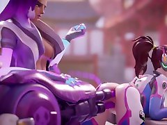 Sombra & D.Va girl 2porn Machine Overwatch Animation WSound