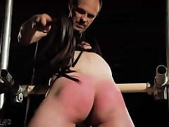 Young slave spanked and rough punishment BDSM boobs norway anal master