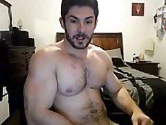 Cute bushy Hunky Doing A web camera Show - Fuck face fucking and vomiting Boy