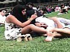 Upskirts at the park 2. Chinese girl waving her legs around exposing herself