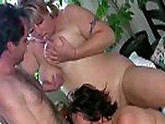Two chubby grannies fuck a latin fuk tour guy