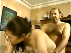 Painful moms threesome orals fuck by old man