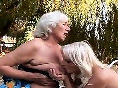Busty blonde Cherry bizarre outdoor lesbian fetish