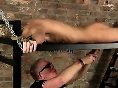 Self male bondage balls gay Pegged all over, drained and