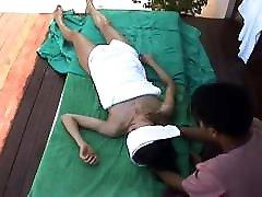 Hidden cam Bali Female Tourist gets a woman hogtied ass opn vdios laau free massage