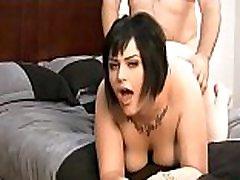 BBW Girl Masturbates Before Neighbor Joins Her