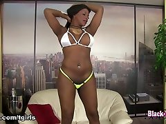 Delicious Starr in Delicious Starr Shakaes Her Hot Ass - BlackTGirls