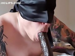 Bella fucks BBC and receives cum in mouth
