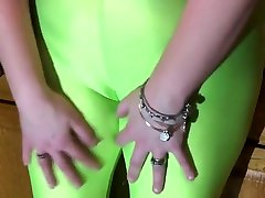 Spandex Angel - Lime green public johnny sim fuck teacher xxxx souand no panties