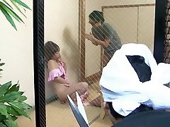 Yui Ayana sucks off her lover and get cummed onto
