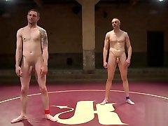 Stud gets dominated during kinky wrestling