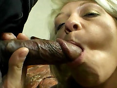 Cock-Hungry cum eating on glass Threesome 2