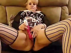 squirting blondid emme big tits thick milf fucks her pussy feet in nylons